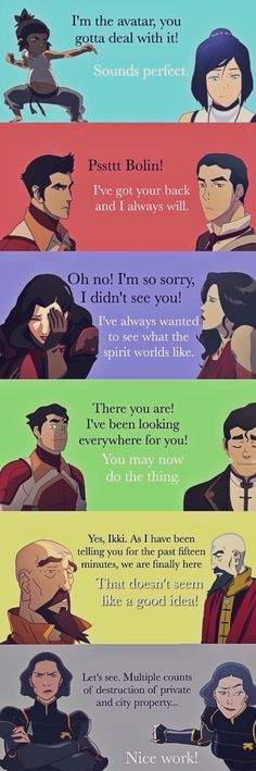 The first and the last words Legend of Korra.