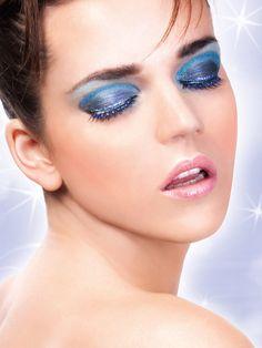 Starlight Edition - Black-Blue Rhinestone Eyelashes 490 | Dancesport Fashion @ DanceShopper.com