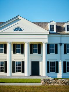 Colonial Revival Architecture, Classical Architecture, Landscape Architecture, New Construction, Windows And Doors, Traditional Design, The Hamptons, New England, Mansions