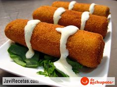 Fried Breaded Ham and Cheese Rolls - Spanish Site - This is the link to the English Translated Version
