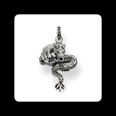 Dragon pendant from Thomas Sabo's Rebel at Heart collection. Made from sterling silver. Available from RADS! #dragon #pendant #silver #silverfashion #necklace  #rebel #thomassabo #toronto #torontofashion #torontojewellery #lovetoronto #yyz #yorkville #yorkvillestyle #yorkvillejewellery #fashion #style #mens #mensfashion #mensjewellery #menswear #men #gift #christmas #lovetoronto #nofilter