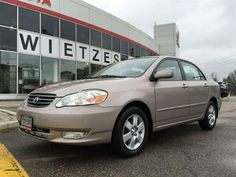 Toyota Corolla 2003 d'occasion with 100771 KMs � Vaughan, Ontario - Wietzes Toyota