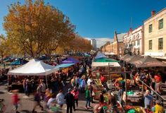 Top 5 Food Lover Holidays - Salamanca Market, Hobart Australia  http://mpstravelandtours.com.au/top-5-food-lover-holidays/