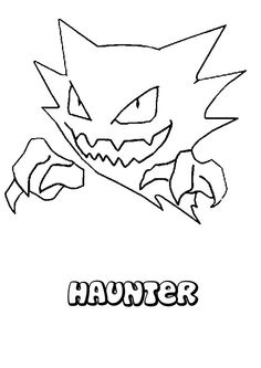 Haunter Pokemon coloring page