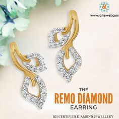 Design Of The Day.... ATJewel Remo Diamond Earring @ 20,419/- Only. #Atjewel #Remo #Diamond #YellowGold  #Earring http://www.atjewel.com/remo-diamond-earring