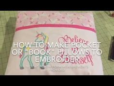How to sew a pocket pillow or book pillow for machine embroidery. For sewing mac. How to sew a pocket pillow or book pillow for machine embroidery. For sewing machine and embroidery using a pill. Pillow Embroidery, Sewing Machine Embroidery, Embroidery Ideas, Embroidery Thread, Floral Embroidery, Embroidery Materials, Creative Embroidery, Embroidery Techniques, Sewing Techniques