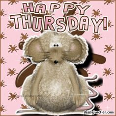 Happy Thursday day greeting animated, animation GIF