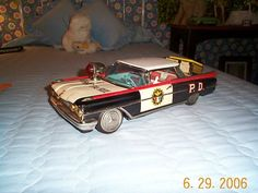 Vintage '59 OLDSMOBILE 88 Police Car. Ichiko Japan. Tin Friction +. Exceptional.