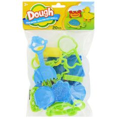 <p> 	Squish, sculpt, mold, and create all kinds of fun dough shapes! Kids will love stretching their imaginations playing with these dough tools and making their own creations. Each pack contains 20