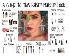 """""""A Guide to this Halsey Makeup Look"""" by halseys-clothes ❤ liked on Polyvore featuring Benefit, NARS Cosmetics, Marc Jacobs, Lancôme, Sephora Collection, Tweezerman, Bobbi Brown Cosmetics, tarte, Yves Saint Laurent and Hourglass Cosmetics"""