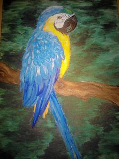 Parrot-my first painting from the studio