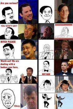 hahahah, thank God I found this. I had no clue where half of these meme faces came from