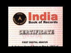 Indian Abacus has entered the India Book of Records. For having invented the First Digital Abacus (Digital & Non Digital versions) By Mr. N. Basheer Ahamed Managing Director & CEO.   The Indian Abacus is an educational tool for learning to do fast and accurate mental arithmetic particularly it helps in enhancing their brain skills such as Concentration Visualisation (Photographic Memory) by activating the right brain The Seat of Intelligence. This present invention introduces a tool which…