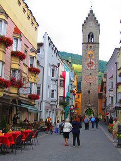 I Love this place! Vipiteno (Sterzing) street view in Sudtirol province, Trentino alto Adige region Italy