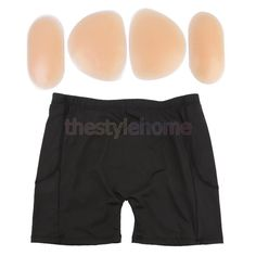 4Pcs Silicone Hip Pads Women Underwear Enhancer Buttocks Booty Booster L-Xxl