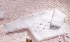 Book Special Peques 5 Autumn / Winter | 10: Baby Sweater | White / Light grey