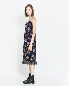 Image 1 of FLORAL LINGERIE STYLE DRESS from Zara