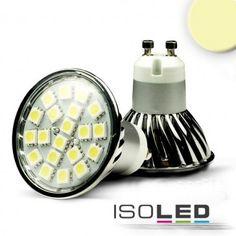 GU10 LED Strahler SMD20, 3,6 Watt, warmweiss / LED24-LED Shop