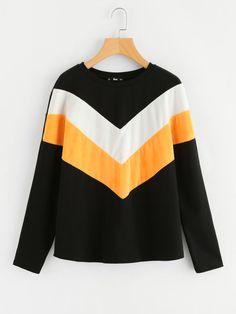 Hooded Long Sleeve Shirt, Long Sleeve Shirts, Chevron, Latest Fashion For Women, Womens Fashion, Sweatshirts Online, Women's Fashion Dresses, Style Inspiration, Sewing