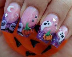 Lindas uñas de Halloween 3D, arte del clavo 3D es una técnica para la decoración de las uñas que crea diseños tridimensionales.