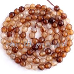 4MM-FACETED-ROUND-BROWN-AGATE-LOOSE-JEWELRY-GEMSTONE-BEADS-STRAND-15