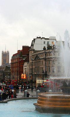 View from Trafalgar Square...the lovely Trafalgar Square...