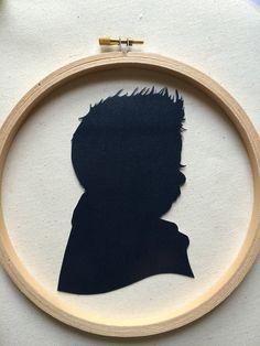 Custom Silhouette Embroidery Hoop Art