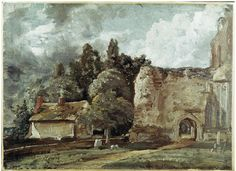 East Bergholt Church: The Ruined Tower at the West End, John Constable, about 1810. For more information on Constable Country visit www.visitsuffolk.com