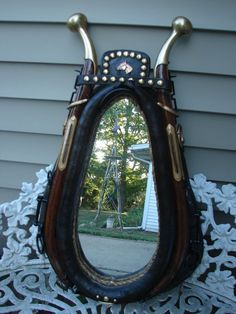 Belgian Horse Collar Mirror-------Really Nice in Collectibles, Cultures & Ethnicities, Western Americana   eBay