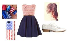 """4th of July Outfit"" by sophiagnc ❤ liked on Polyvore featuring H&M and Casetify"