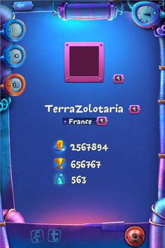 Game screens by Tatiana Koidanov, via Behance