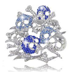 EVER FAITH Lots Skull Bone Brooch Blue Austrian Crystal Silver-Tone http://www.amazon.com/dp/B00GU72B0E/ref=cm_sw_r_pi_dp_1wiUvb1GQ0QWP