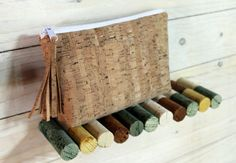 cork pouch zipper by SunbeamSantorini on Etsy