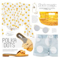 """237. So Dotty: Polka Dots"" by auroram ❤ liked on Polyvore featuring STELLA McCARTNEY, Caroline Constas, Rosie Assoulin, Tabitha Simmons, Illesteva, Nicole and NARS Cosmetics"