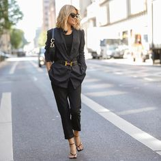 Gitta Banko, Dior, All Black Everything, Get Dressed, New York, Street Style, Chic, Instagram, Pants