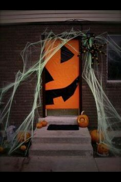 pumpkin jack o lantern halloween front door decor