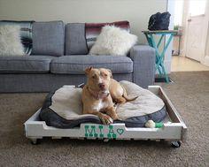 diy pallet dog beds - Google Search
