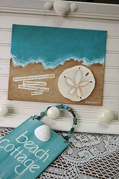 beach themed wall art! This will be in my beach cottage one day!