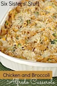 Chicken and Broccoli Alfredo Casserole Recipe