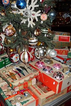 Vintage ornaments - found a bunch of these in our attic from the previous owner and used them on our tree...they looked great!