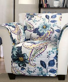 Love this Blue Floral Cora Armchair Protector by Lush Décor on #zulily! #zulilyfinds