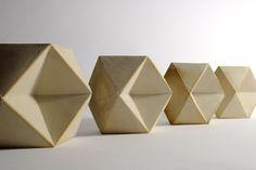 Modules. Slipcast white earthenware. Richard Sweeney