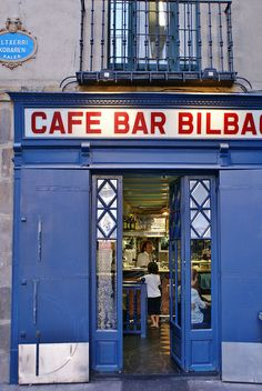 Cafe Bar Bilbao | Bilbao, Spain. Unfortunately, we did not get to Bilbao, but my husband's paternal grandmother was from there and so I put it here in her honor.