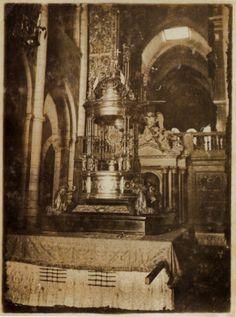 """Tabernáculo con ostensorio do """"Altísimo Sacramento"""" usado nas procesións, catedral de Lugo; ca. 1900"""
