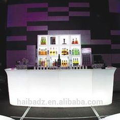 bar table acrylic led table for commercial furnit Strip Club LED Bar Counter furniture