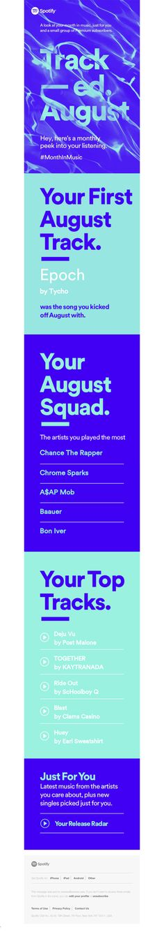 Your monthly glimpse at what you've been up to on Spotify - Really Good Emails