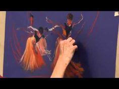 Art Tutor Pastel Figures (Timelapse)