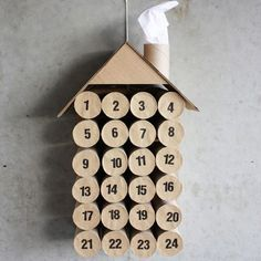Toilet Paper Advent Calendar