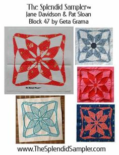 """#TheSplendidSampler has yet another wonderful block to share! The """"Circle of Love"""" block by Geta Grama of #GetasQuiltingStudio, is a beautiful applique block. Thank you as always to Pat A Sloan and Jane Shallala Davidson Quiltjane for hosting such a wonderful sew along!   To download the block, please visit: http://www.thesplendidsampler.com/2016/07/24/block-47-circle-of-love/  For great tips on constructing this block, visit Geta's blog…"""