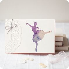 simple and elegant, still cute. This would make a nice thank you or even a ballerina birthday kids invitation.
